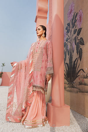 Crystal Rose - Luxury Unstitched 3PC - yesonline.pk