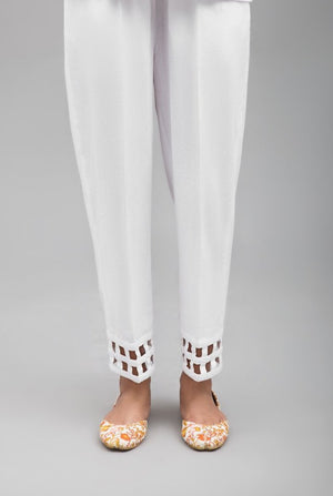 White Square Bottom Pant,100%  Cotton By Yesonline.Pk - yesonline.pk