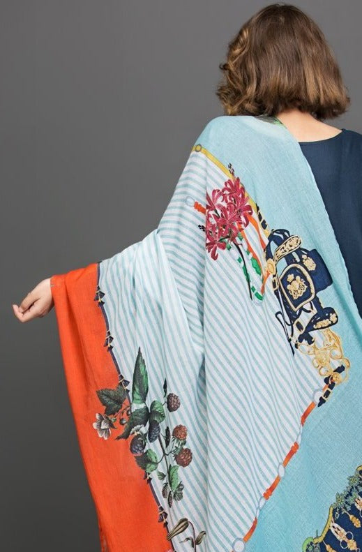 Lilly Garden Scarf Fine cotton Fabric By Yesonline.pk - yesonline.pk