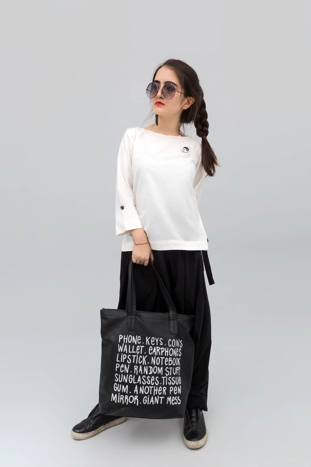 White Double cuff Long Fusion Shirt in Cotton - yesonline.pk