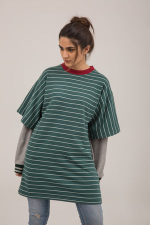 Yarn Dyed Stripper Terry Pullover - yesonline.pk