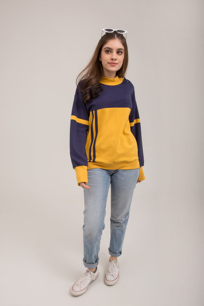 Color Block Pullover PK Jersey Fabric - yesonline.pk