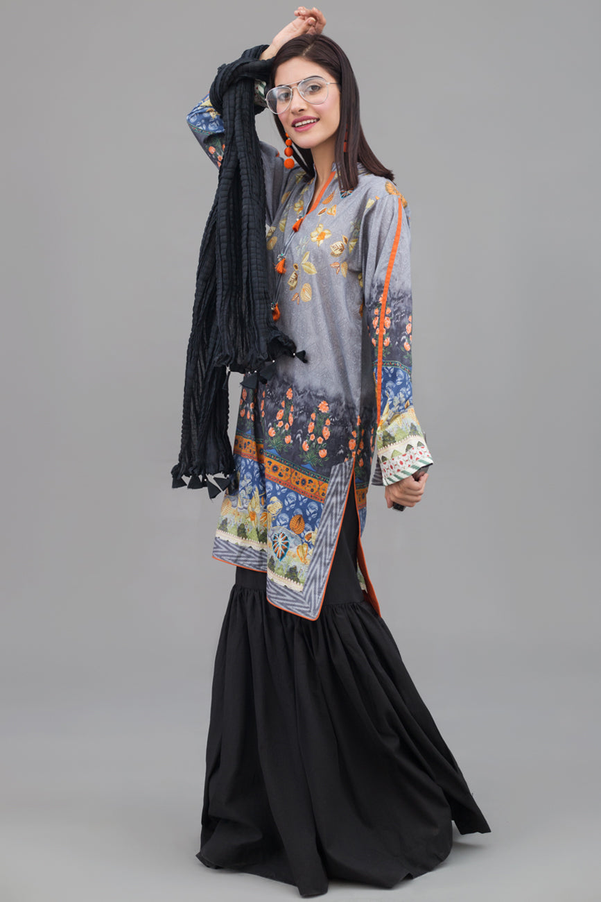 Floral Breeze - 1 pc PRET (Stitched) - Digital Printed Lawn Shirt - yesonline.pk