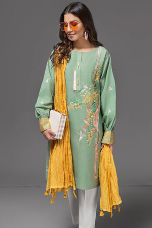 Yellow Malmal Crushed Dupatta By Yesonline.pk - yesonline.pk