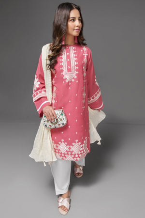 Rapture Rose 1 pc PRET (Stitched) - Embroidered Cambric Shirt - yesonline.pk