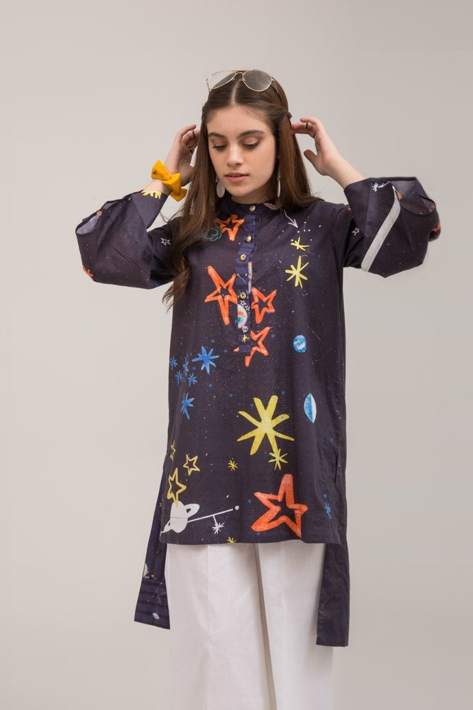 Galaxy Fusion Printed Shirt In 100% Cotton