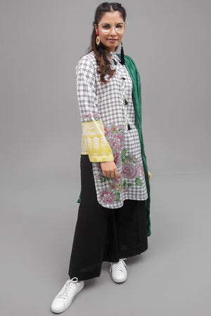 Marshmallow White - 1 pc PRET (Stitched) - Digital Printed Lawn Shirt - yesonline.pk