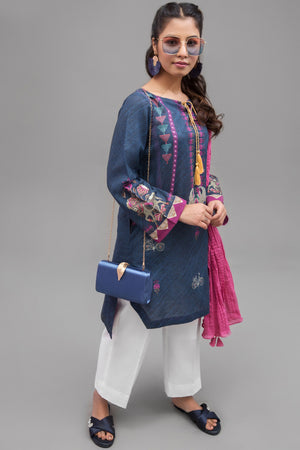 Blue Depths - 1 pc PRET (Stitched) - Digital Printed Lawn Shirt - yesonline.pk