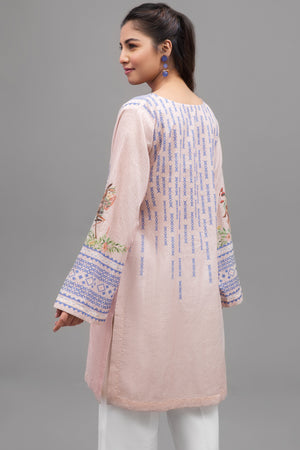 Pastel Pink - 1 pc PRET (Stitched) - Digital Printed Lawn Shirt - yesonline.pk