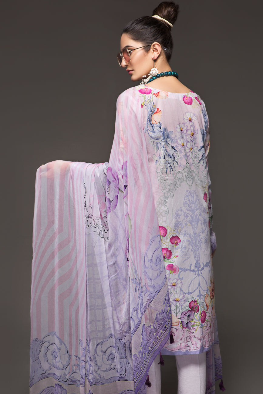 PINK TINT - 2pc Unstitched Digital Printed Lawn Shirt with Digital Chiffon Dupatta - yesonline.pk