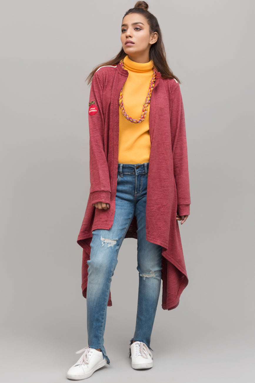 Side Drop Knits Cardigan - yesonline.pk