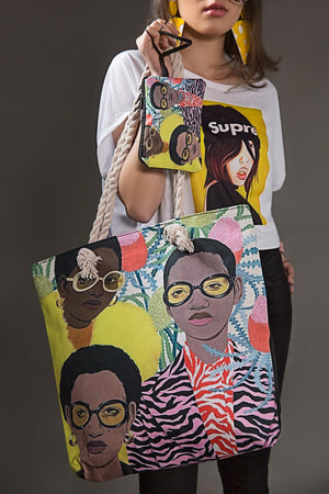 Soul Sister Graphic Art Carry Bag and Purse (2 in 1) By Yesonline.pk - yesonline.pk