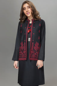 Moonless Black Waist Coat - yesonline.pk