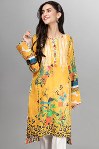 Mustard Tales -1 pc PRET (Stitched) - Digital Printed Lawn Shirt - yesonline.pk