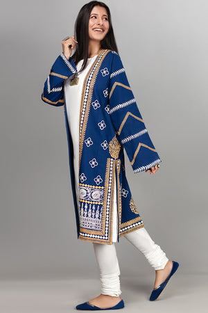 Block Printed Deep Dive Jacket - yesonline.pk