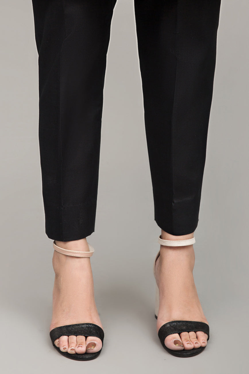 Black Slim Fit Pant, Mix Cotton By Yesonline.Pk - yesonline.pk