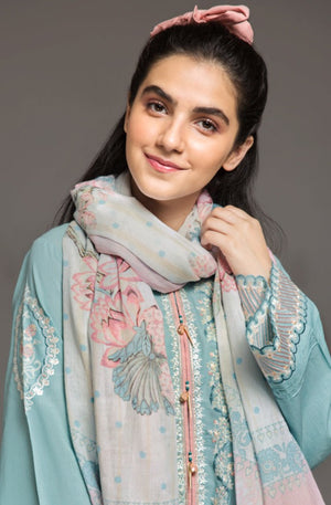 Pastel Hues Scarf Fine cotton Fabric By Yesonline.pk - yesonline.pk