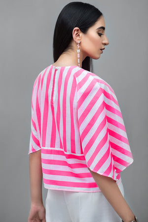 Stripe blouse with pocket Cotton Fabric By Yesonline.Pk - yesonline.pk