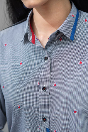 Checked Shirt With Full Color Taping Fine Cotton Fabric By Yesonline.pk - yesonline.pk