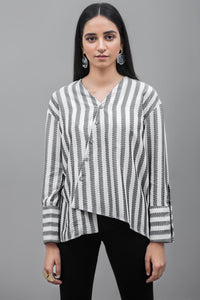 Limited edition YES striped Top Linen Fabric By Yesonline.Pk - yesonline.pk