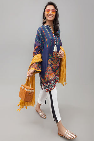 Sunbright Yellow Malmal Crushed Dupatta By Yesonline.pk - yesonline.pk