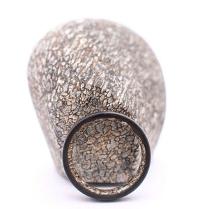 Heimskringla Pattern Damascus Ring with T-Rex Dinosaur Bone Inner Sleeve - 7 mm