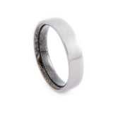 Titanium Ring with Dinosaur Bone n. 123 Inner Sleeve