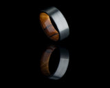 Titanium Ring with Olive Wood Inner Sleeve