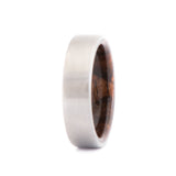 Titanium Ring with Walnut Wood Inner Sleeve - 7 mm - Custom