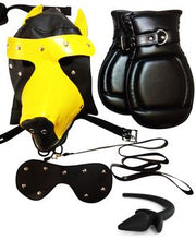 Load image into Gallery viewer, Dungeon Store Puppy Play Kit with Hood, Mitts, Tail, Leash & Carrying Case