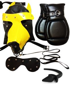 Dungeon Store Puppy Play Kit with Hood, Mitts, Tail, Leash & Carrying Case