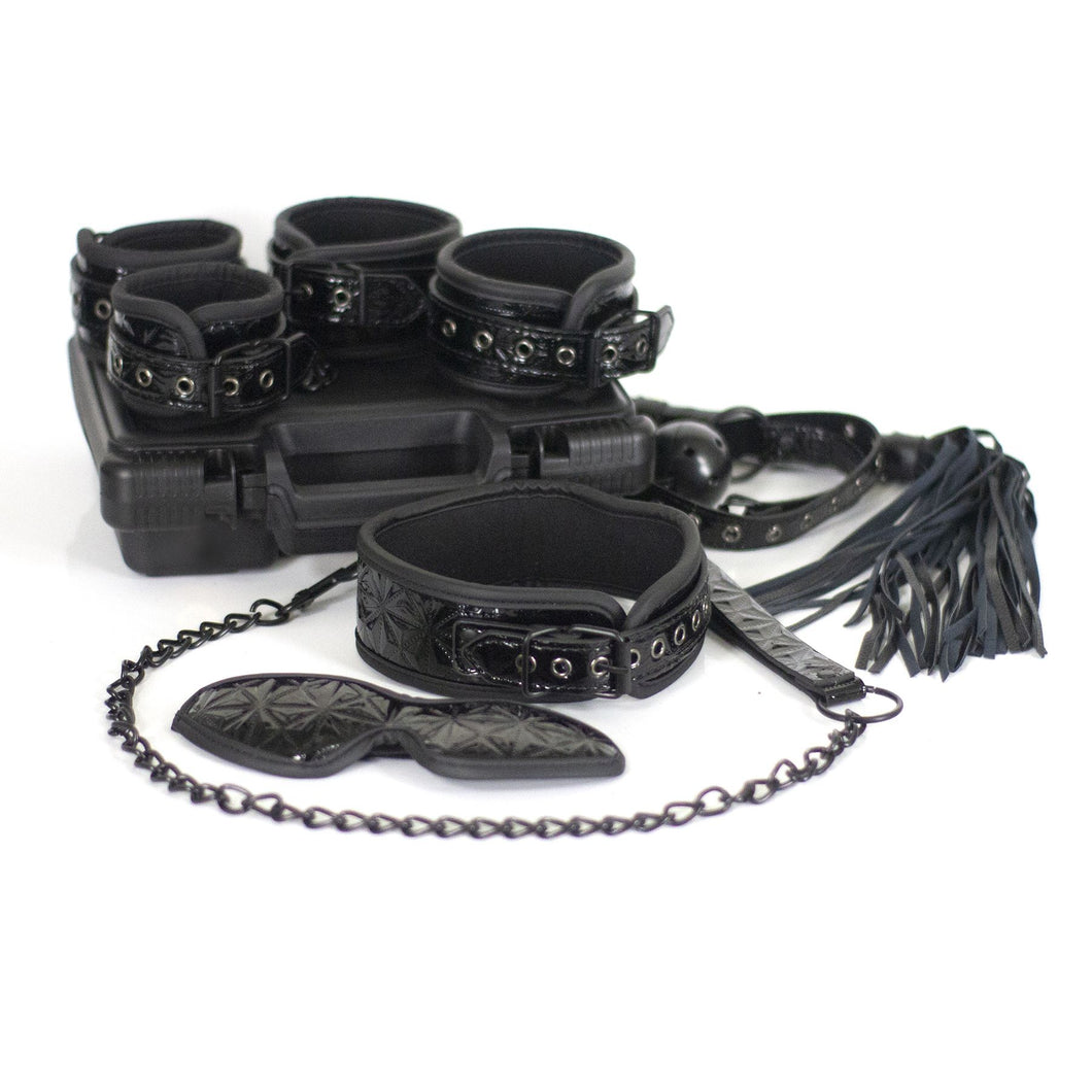 The Dungeon Store Vegan Bedroom Bondage Kit Black