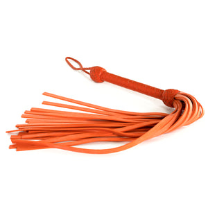 The Dungeon Store Leather and Neoprene Flogger Orange