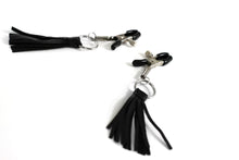 Load image into Gallery viewer, The Dungeon Store Leather Tassel Nipple Clamp - Adjustable