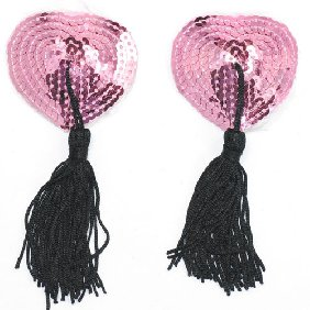 Heart Shaped Pasties Pink The Dungeon Store