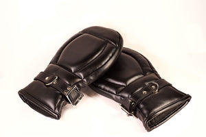 The Dungeon Story Leather Locking Puppy Play Mitts