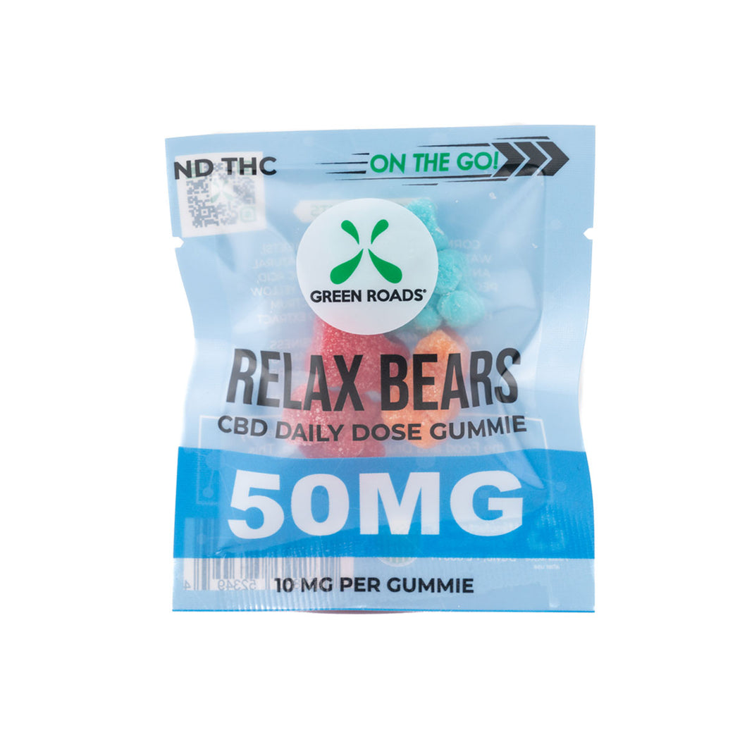 CBD EDIBLES 50MG RELAX BEARS ON THE GO