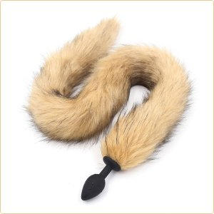 Dungeon Store Faux Fur Cat Tail with Silicone Plug