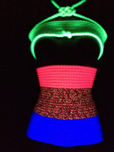 Conductive Rope - Black Light Reactive