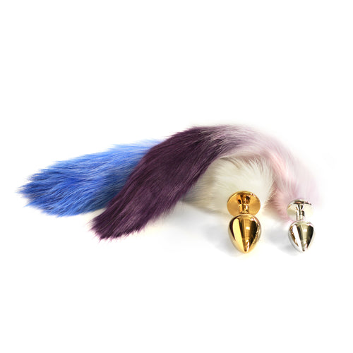 Dungeon Store Faux Fox 2 Tone Tailz with Metal plug