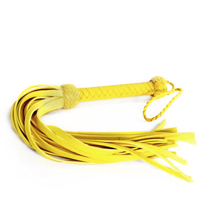 Dungeon Store Leather and Neoprene Yellow Flogger