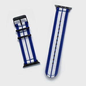 Blue 'GT' NATO Band for Apple Watch 1-5