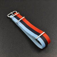 'Motorsport' NATO Band with Brushed Stainless Hardware 22mm