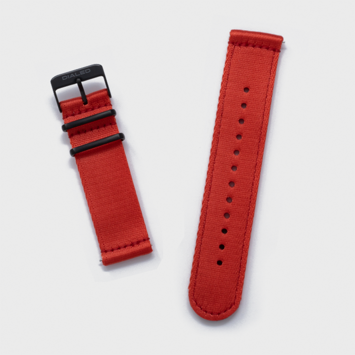 Red 'Five Point' Two-Piece NATO Band