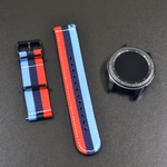 'Motorsport' NATO Band with Black Hardware Compatible Samsung Gear S3