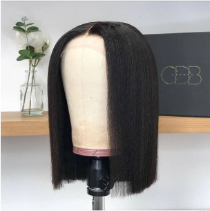 wig on a mannequin