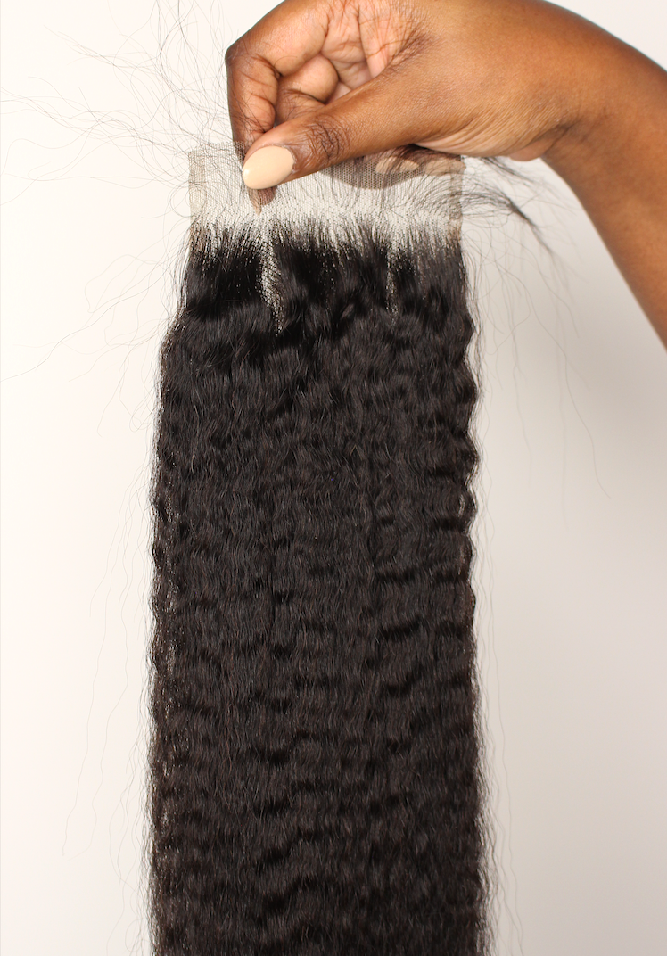 KINKY STRAIGHT CLOSURES.