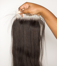 Load image into Gallery viewer, STRAIGHT LACE CLOSURES & FRONTALS .