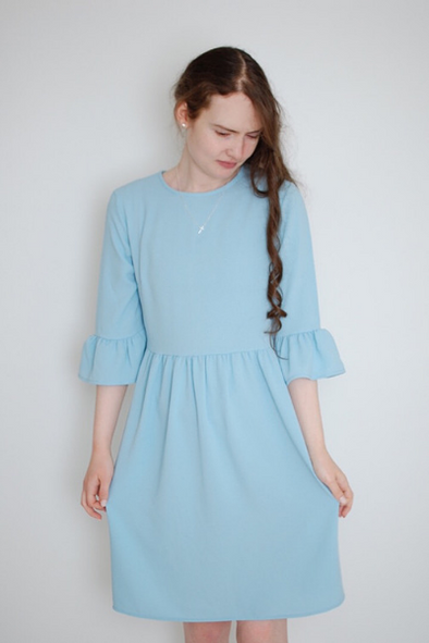 Ruffled Sleeved Babydoll Dress