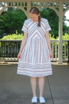 Cotton Woven Striped Dress